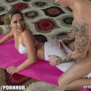 Mia Malkova White Pants Oiled Up