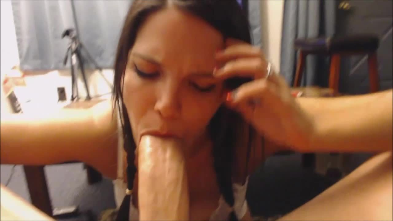 Petite Teen POV Blowjob and Facial