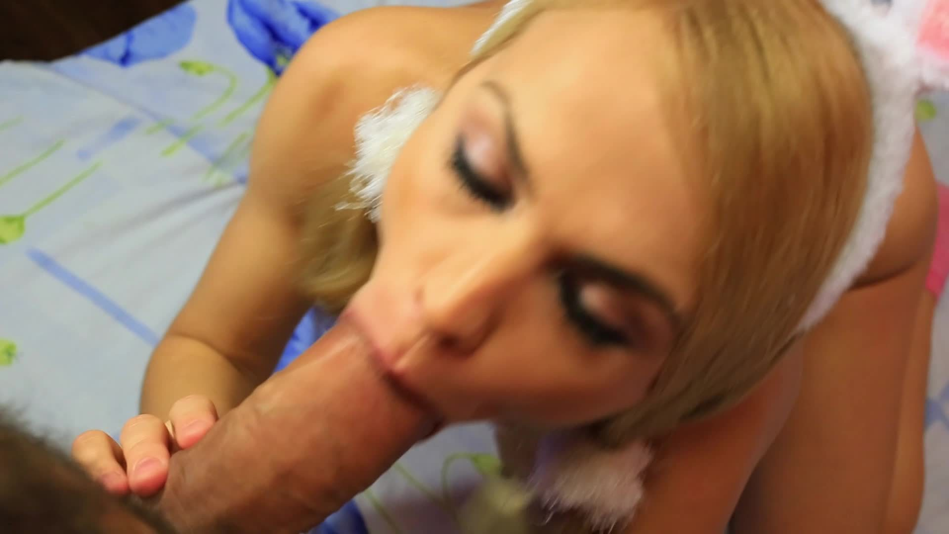 Easter Bunny BlowJob and Swallow