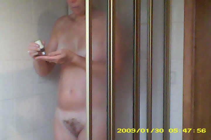 55yo Mom Takes a Shower