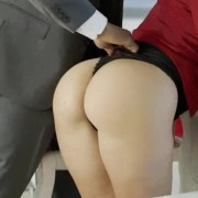 Business Blonde Anikka Ass Fucked by a BBC