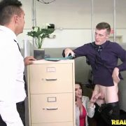 Ryan Smiles Office Fling